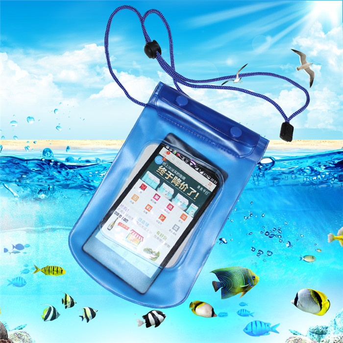 6 inch seal Waterproof Bag Pouch Underwater Back Cover Case For iPhone 6 5 5s 4 4s for lg g2 Pouch for Galaxy s4/5 Free Shipping(China (Mainland))