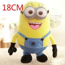 1PCS Despicable Me 3D Eyes High Quality Plush Toy 18cm Minions Soft Dolls Jorge Stuart Dave Plush Toys Free Shipping HT496(China (Mainland))