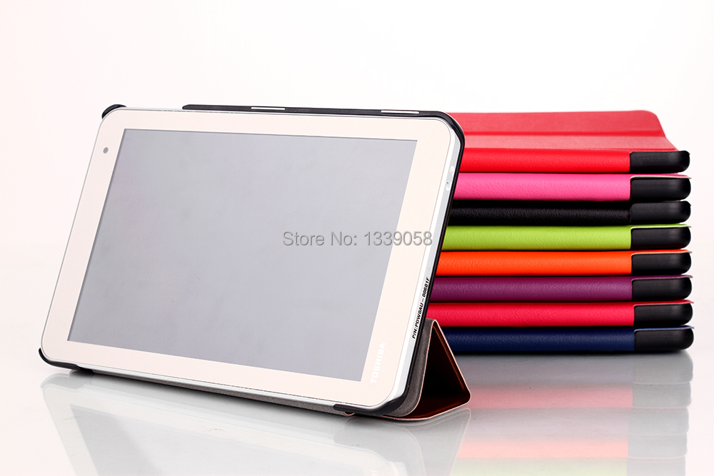 Slim Folding Magnetic Leather Case Cover For Toshiba Encore 2 WT8 8.0 Tablet(China (Mainland))