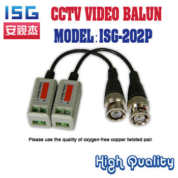 ISG-202P passive video balun,Good inductance;  UTP Video Balun Used for CCTV  transmission Free shipping