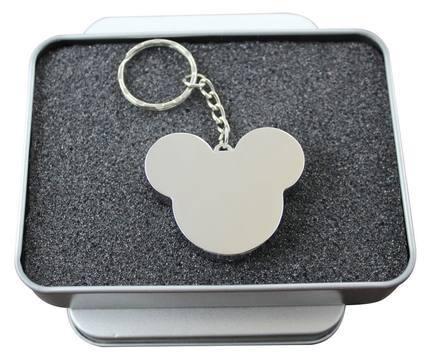 Metal usb mickey head flash drive 8GB 16GB 32GB 64GB pendrive cartoon memory sticks gifts tin box Packing free shipping(China (Mainland))