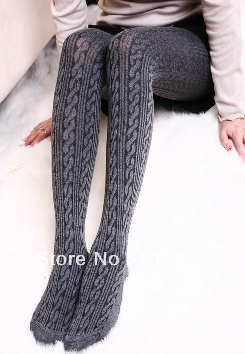 Winter women sexy tights/panty/knitting in stockings trousers panty-Thicken the rib twist tightsTT024-20pcsОдежда и ак�е��уары<br><br><br>Aliexpress