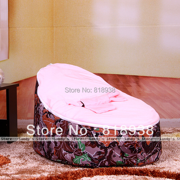 Sandys Store# With Filler!!!!Brown Flower Pattern  Baby Bean Bag<br><br>Aliexpress