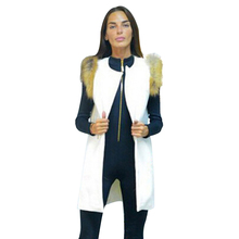 High Quality Hot Sale Best Goods Fur Edge Vests Woolen Long Herringbone Section Women Cardigan Vests Feather Faux Fur Classical(China (Mainland))