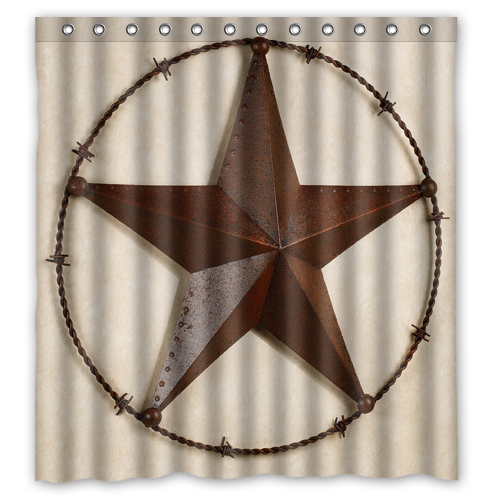 "AOC Western Texas Star Custom Shower Curtain 66 ""x72"" Waterproof Fabric Shower Curtain for Bathroom(China (Mainland))"