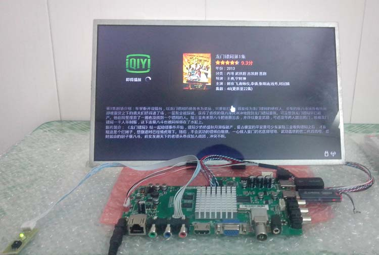 Andrews laptop screen TV driver board modification kit with wireless WiFi + features a full-color