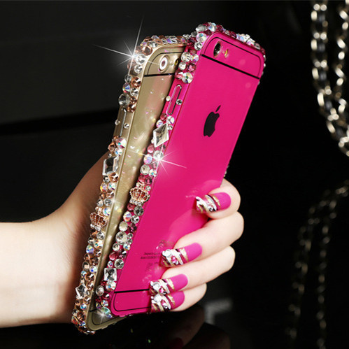 Luxury Rhinestone Bling Case Cover For iPhone 6 plus case 5.5 inch For iphone 6 plus case 5.5inch Diamond Cover Phone Bags cases(China (Mainland))