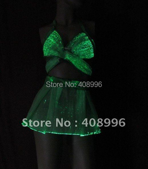 Sexy luminous optical fiber corsage and skirt for performance/fashion/Singular dress/Show Clothing/02(China (Mainland))