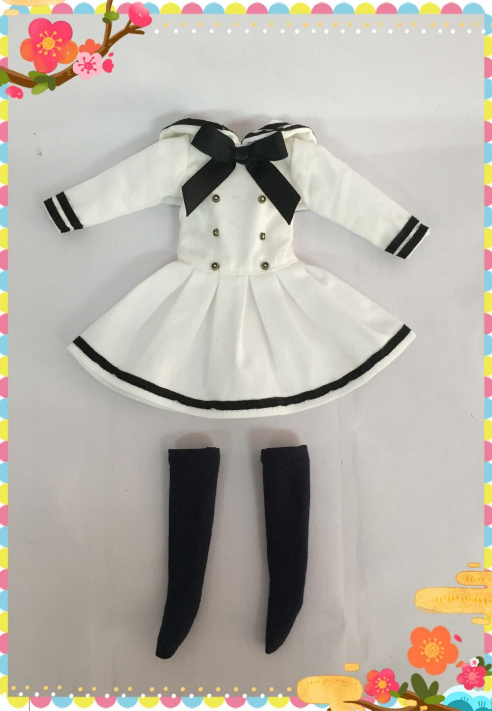 blyth Doll Clothes suitable for blyth dolls,1/6 doll ,azone doll WHITE(China (Mainland))