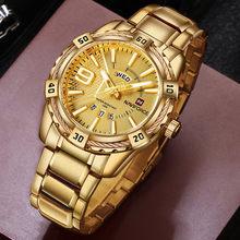 NAVIFORCE marque de luxe hommes Sport montre or plein acier Quartz montres hommes Date étanche militaire horloge homme relogio masculino(China)
