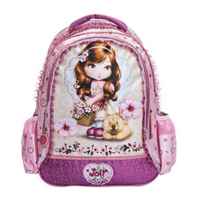 New arrival Fashion  cartoon Girl's backpack kid school bags bag backpacks(China (Mainland))