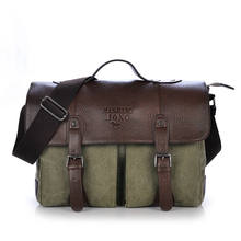BUYAO fashion high qualities promotion canvas cover business dress men's briefcase messenger bag vintage casual handbags(China (Mainland))
