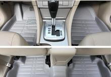 distinctive style surrounded by a large car waterproof antiskid mat dedicated car stereo leather mat easy cleaning,car styling.