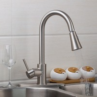 New Nickel Brushed Pull Out & Swivel Kitchen Sink Vessel Basin  K-5525 Tap Mixer Faucet