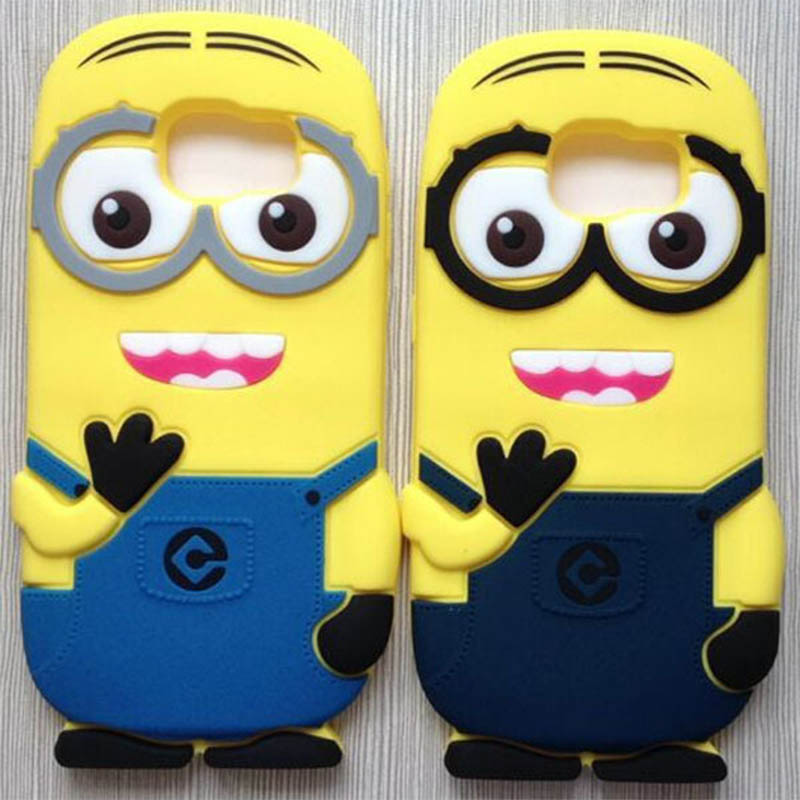 Hot 3D Cartoon Despicable Yellow Minion Silicon case cover coque Samsung Galaxy S6 S5 S4 S3 A3 A5 A7 Note 2 3 4 - E-Max Technology Co. Ltd. store