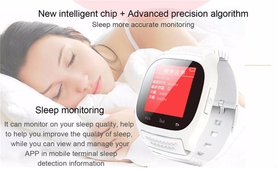 ถูก 2016ร้อนM26ดูสมาร์ทบลูทูธนาฬิกาข้อมือที่มีไฟLED PedometerแบบDial SMSเตือนติดตามการออกกำลังกายสำหรับip hone A Ndroidมาร์ทโฟน