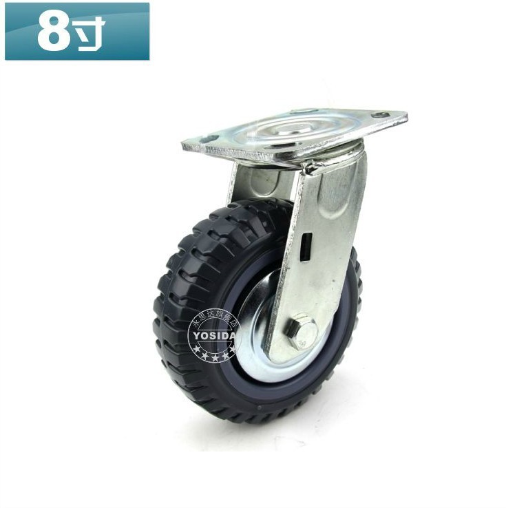 """Without Brake 8"""" Extra-Heavy Polyurethane Cabinet Caster Wheel Load Capacity 430KG Per Caster(China (Mainland))"""