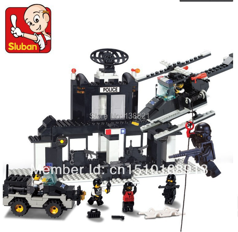Educational Toys for children DIY Building Blocks police station self-locking bricks Compatible with Lego(China (Mainland))