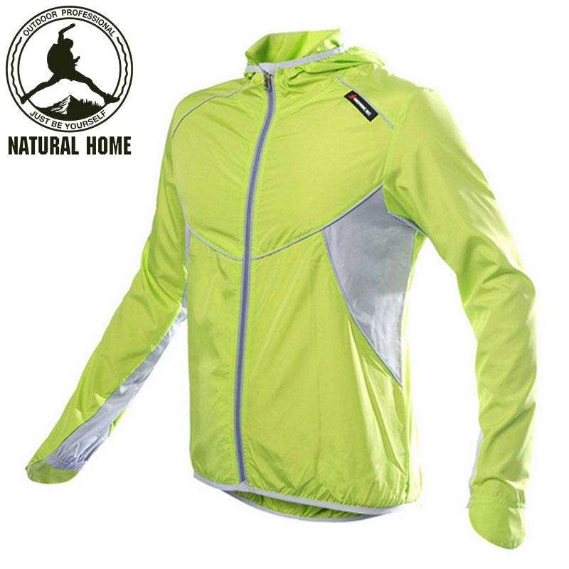 NaturalHome Cycling Men's Women Riding Reflective Jersey Downhill Cycle Clothing Long Sleeve Wind Jacket Jerseys(China (Mainland))
