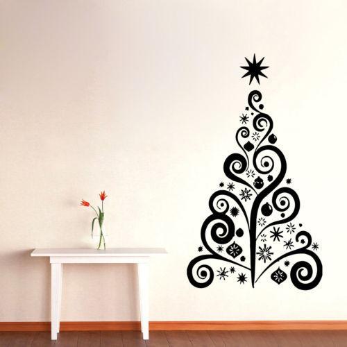 Christmas Tree vinyl wall sticker decal wall art Home Decor(China (Mainland))