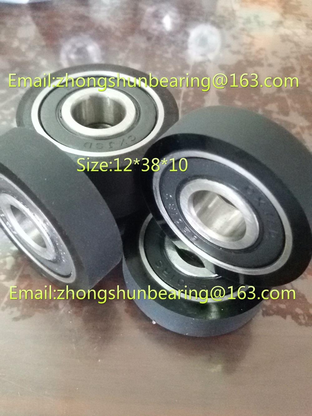 Polyurethane bearing62012rs using pad printer ,PU Bearing,wear-resisting,Shock absorption,bearing size:12*38*10(China (Mainland))