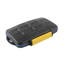 New Waterproof Memory Card Storage Case Holder Box Protector For 4 CF 8 SD Card Free shipping(China (Mainland))