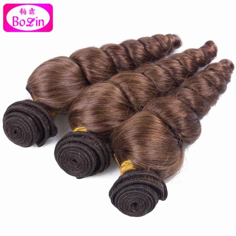 #4 Перуанские женские волосы Свободная волна Hair Weave Bundles 3PCS Lot натуральные волосы для наращивания Bolin Hair Products