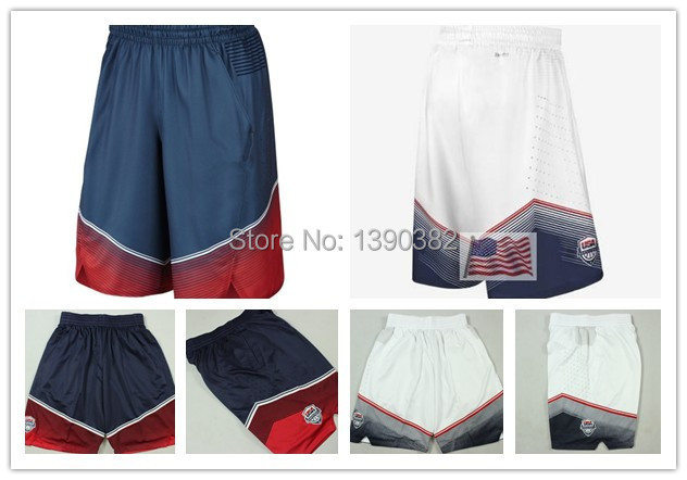 Wholesale 2014 USA Dream Team Shorts,Cheap 2014 Spain Basketball World Cup Shorts American For Men,Fast Free Shipping(China (Mainland))