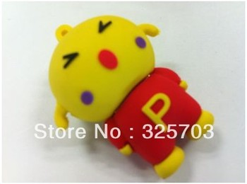 Free shipping, wholesale cartoon silicone 4 gb, 8 gb, 16 gb and 32 gb flash drive usb/memory stick 2.0 / car/novelty gifts
