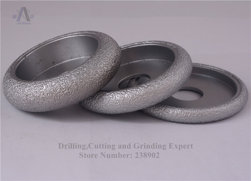 3 inch 75mm Vacuum Brazed Diamond CONVEX Wheel / Stone Edging Stone, Artificial Ceremics, Glass, Concrete etc - Drilling, Cutting and Grinding Expert store
