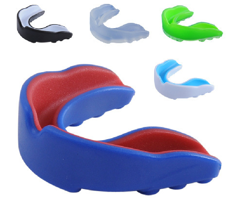 2016 new Double-sides Mouthguard Mouth Guard Teeth Protect for Boxing Basketball Top Grade Gum Shield