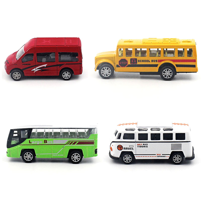 1:64 Travel bus school bus business car alloy car model children 's toys to open the door back to force Family Decoration(China (Mainland))