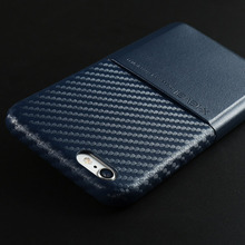 Fashion leather imitation carbon fiber texture Case for Apple iPhone 6s Card support for iPhone6 4.7 inch protective cover