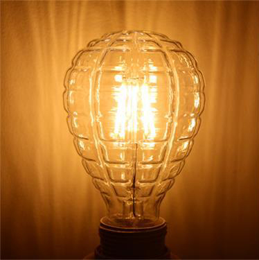 2016 new style Edison LED filament lamp new pineapple bulb 4W 120V 220V E27 soft white base decorative light free shipping(China (Mainland))