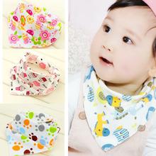 Baby 100% Organic Cotton Double Sides Design Absorbent Bandana Drool Bib Various Styles Cute Baby Bibs KXBBK001