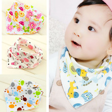 Baby 100% Organic Cotton Double Sides Design Absorbent Bandana Drool Bib Various Styles Cute Baby Bibs KXBBK001(China (Mainland))