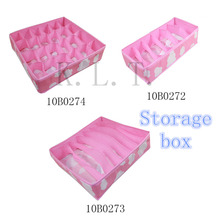 Neue Rosa Verschiedenen Raster Fashion Komfortable Folding Aufbewahrungsbox Beutel für Büstenhalterunterwäschekrawatte Socke Organizer(China (Mainland))