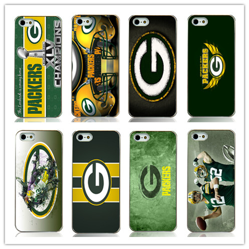 green bay packers sports printed white plastic Hard Back Case Cover for Iphone 4 4s 4g Free shipping(China (Mainland))