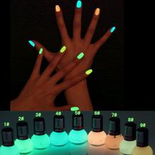 Non-toxic Neon Fluorescent  Luminous oil matte nail polish candy 12 colors transparent Nail Varnish Lacquer Paint Nail Art(China (Mainland))