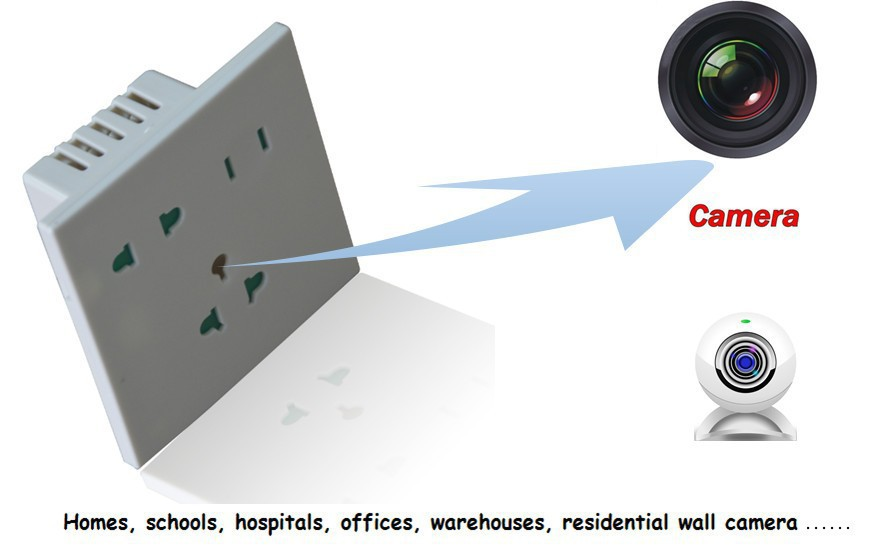 Socket Appearance 1200TVL Wall outlet Security Camera with Wifi and APP function(China (Mainland))