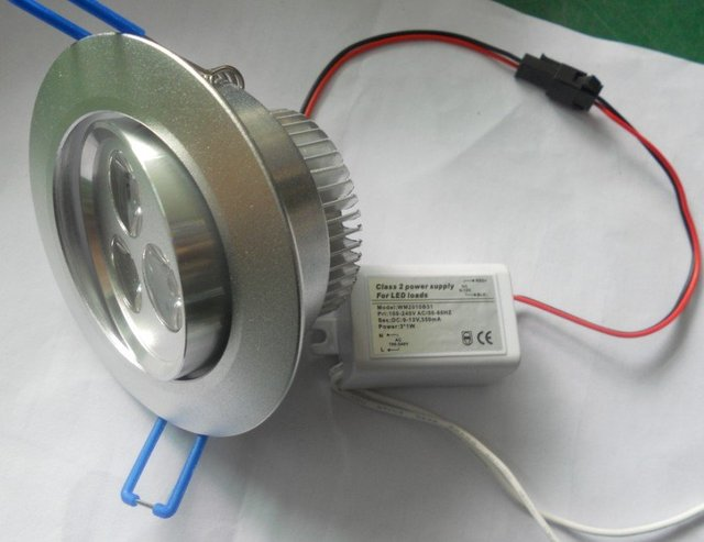 3*1W LED high power ceiling light,down light;AC85-265V input