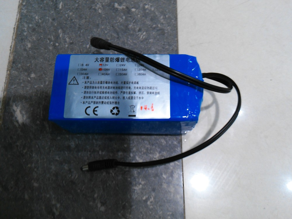 The new lithium iron phosphate battery monitor battery 12v10AH lighting battery large capacity battery pack(China (Mainland))