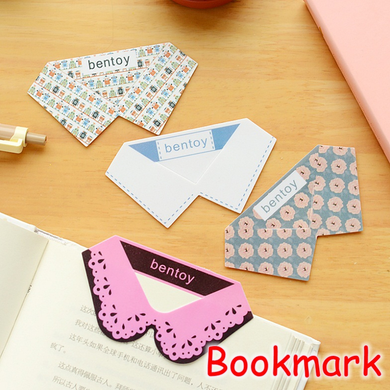 [FORREST SHOP] Novelty School Office Supplies Retail Collar Design PVC Bookmarks For Books Creative Gift (4 Pcs/Lot) FRS-179(China (Mainland))