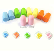 5 Pairs 5 colors Authentic Foam Soft Travel Sleep EarPlugs Noise Reduction Norope Earplugs Swimming Protective earmuffs with box
