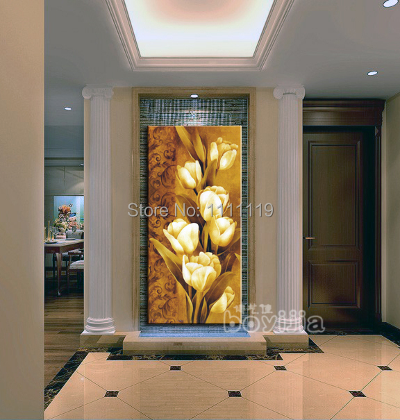 Hand painted modern tulip pictures on canvas flower oil - Cuadros gran formato ...