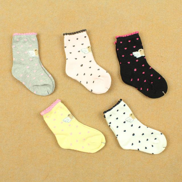 0 - 3 spring and autumn socks relent 100% cotton child knee-high socks male female 100% child infant baby cotton socks