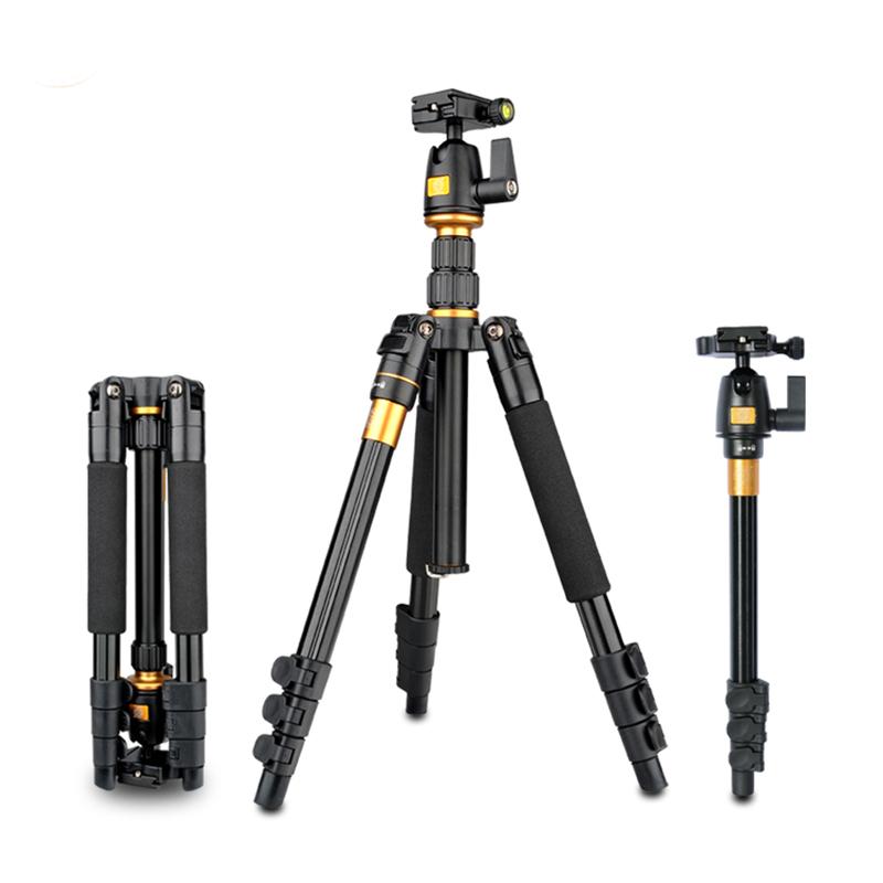 QZSD Q555 Light Portable Camera Tripod New Camera Tripod Monopod Ball Head Universal For Nikon For Canon For Sony DSLR SLR Q555<br><br>Aliexpress