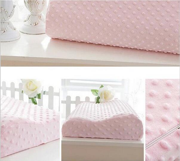 Memory foam pillow 3 colors Orthopedic Latex Neck Pillow Fiber Slow Rebound Memory Foam Pillow Cervical EMS Free Shipping(China (Mainland))