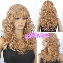 Hat Resista nt Cosplay party TJ***** Fashion Sexy Long Brown blonde mix Wavy Hair wigs - jewe store