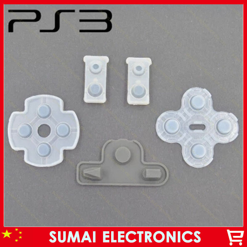 100set Conductive rubber pad only for PS3 New Version Controller HOME key pad contacts is single contacts<br><br>Aliexpress